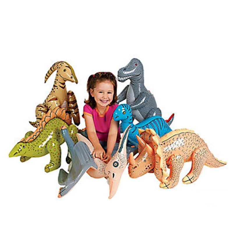 6 стил надуваеми динозавър играчки за Girs и момчета рожден ден коледно парти деца T-rex подаръци открито двор реквизит животни балони  t