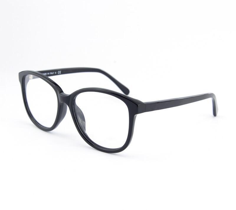 Best качество Новинка года Горячие для женщин Мода очки ацетат рамки рецепт Близорукость Оптические очки коробка для объектива чехол - Цвет оправы: Black Leather box
