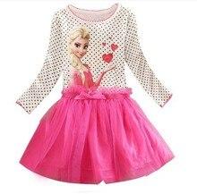 2016 2 – 7 лет летом девочка платье принцессы Vestidos лихорадка анна эльза платье детская одежда для рождения детей ну вечеринку костюм