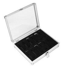 12 Grid Watches Storage Box Aluminium Plastic Rectangle Watch Holder Jewelry Display Case High Quality LXH