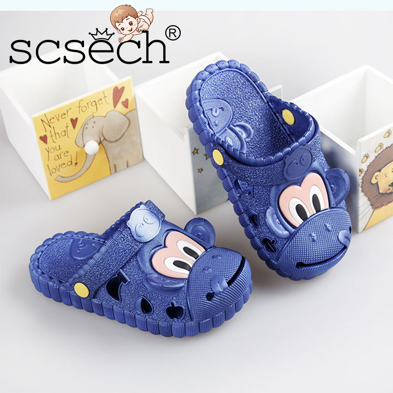 Scsch Childrens Shoes Soft Bottom Kids Cool Slippers Summer Cartoon Baotou Boys  Girls Antiskid Rubber Beach Sandals S8S27-in Slippers from Mother   Kids on  ... fc348d43371