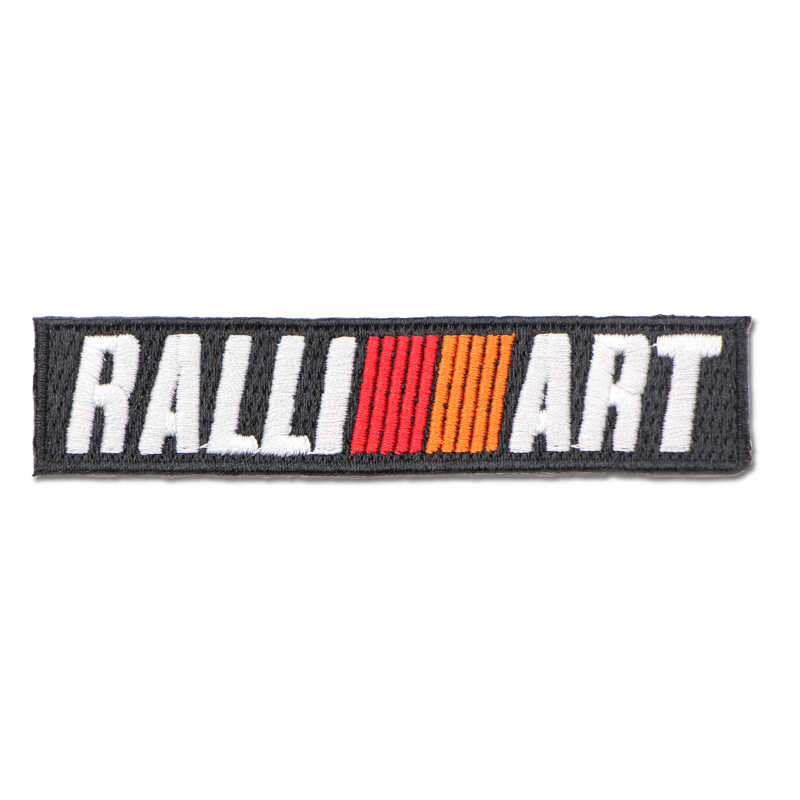 1 Uds. Para adhesivos para ropa aplique de parche bordado de tela para Mitsubishi RalliArt Lancer Ralli Art 10 Asx accesorios para coche