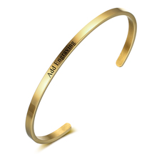 3 Color Personalised Gifts ID Bangles For Lovers' Engrave Name Stainless Steel Bracelets & Bangles (JewelOra BA101918)