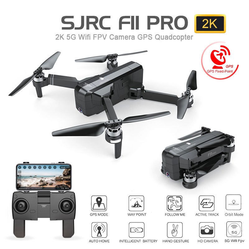 SJRC F11 PRO GPS Drone With Wifi FPV 1080P/2K HD Camera F11 Brushless Quadcopter 25 Minutes Flight Time Foldable Dron Vs SG906(China)