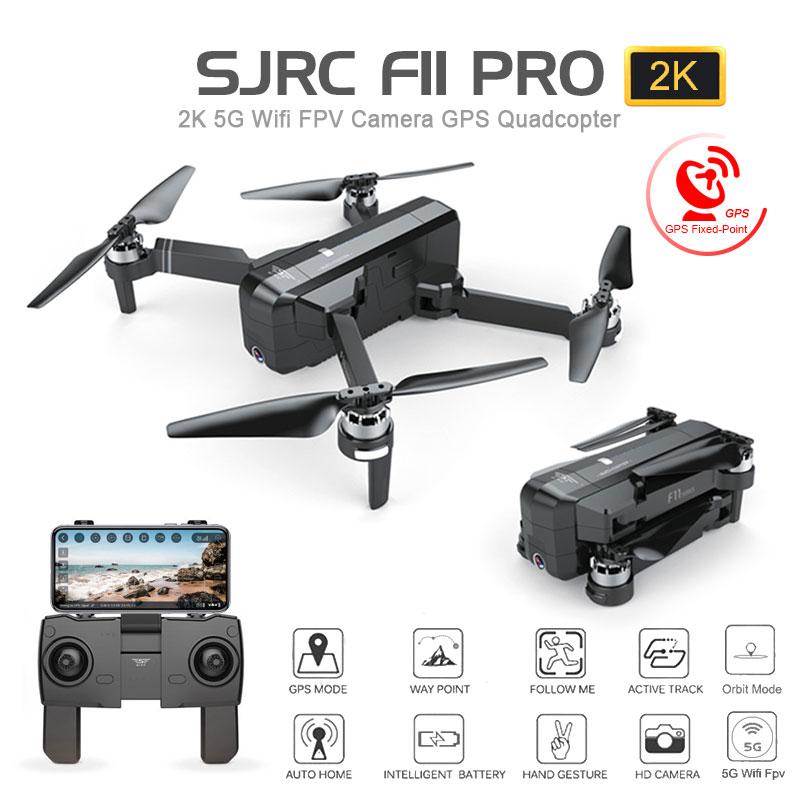 SJRC F11 PRO GPS Drone Mit Wifi FPV 1080 P/2 K HD Kamera F11 Bürstenlosen Quadcopter 25 minuten flug Zeit Faltbare Eders Vs SG906