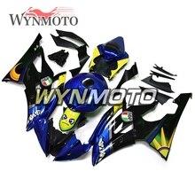 Completo Kit Carenagens Para Yamaha R6 2008-2016 09 10 Anos Quadros de Injeção de Plástico ABS Carroçaria Motorbike Azul Amarelo personalizado Novo
