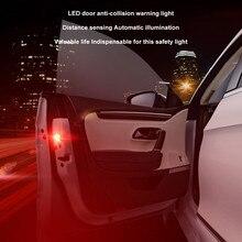 2х Универсальная автомобильная дверь, 5 светодиодный Предупреждение лом, комплект беспроводной, анти коллид, светодиодный, лампы для автомобилей, автомобильные аксессуары