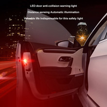 2x Universal Car Door 5 LED Opened Warning Flash Light Kit Wireless Anti Collid LED Lamps For Cars Car Accessories