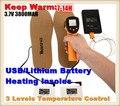 Sporty 3.7 V/3800 mAh Outdoor Ski & Caminhadas USB Bateria De Lítio Elétrica Auto Aquecimento Palmilhas, 3 Engrenagem Quente termostato 7-14 h, 38-46yards