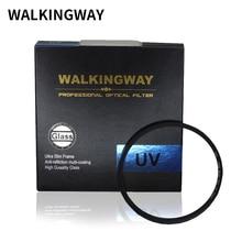 Filtro para câmera walkingway, filtro de lente protetora ultra violeta 49/52/55/58/62 filtro para canon sony nikon/67/72/77/82mm