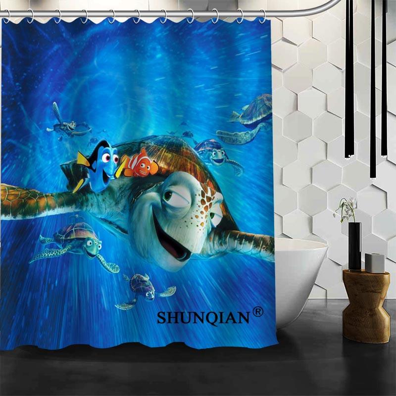 Best Nice Custom Finding Dory Shower Curtain Bath Curtain Waterproof Fabric Bathroom Curtain MORE SIZE A6.1-54