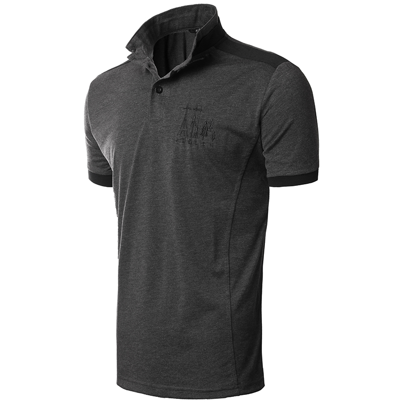 Summer New Mens Polo Shirt Brands 2017 Male Short Sleeve Casual Slim Solid Color Embroidery Polos Men XXL