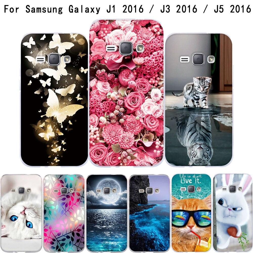 Galleria fotografica Bag For Samsung Galaxy J1 J3 J5 2016 J120F Case Soft TPU Funda Coque For Samsung J1 J3 J5 2016 Cover For Samsung J1 J3 J5 6 Case