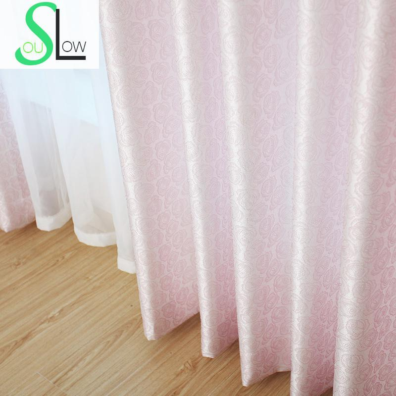 Slow Soul Pink Gold Rose Curtain Jacquard Europe Floral Curtains For Living  Room Kitchen Bedroom Roman Tende Rideau Cortina In Curtains From Home U0026  Garden ...