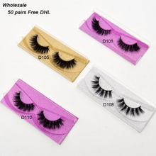 Free DHL 50 pairs Visofree Eyelashes 3D Mink Lashes Handmade Mink Dramatic Lashes 48styles cruelty free reusable lashes wholsale