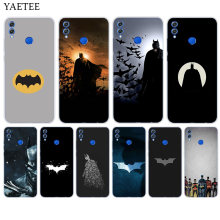 Batman Superhero Case For Huawei Honor 8X 9 10 lite 8A 7S 7C 8C Y5 Y6 Y7 Prime 2018 Pro Y9 2019 Soft Rubber Protect Cover(China)