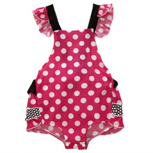 Cute Ruffle Newborn Kids Baby Girl Clothes Polka Dot Backless Summer Bodysuit Jumpsuit Playsuit Outfits