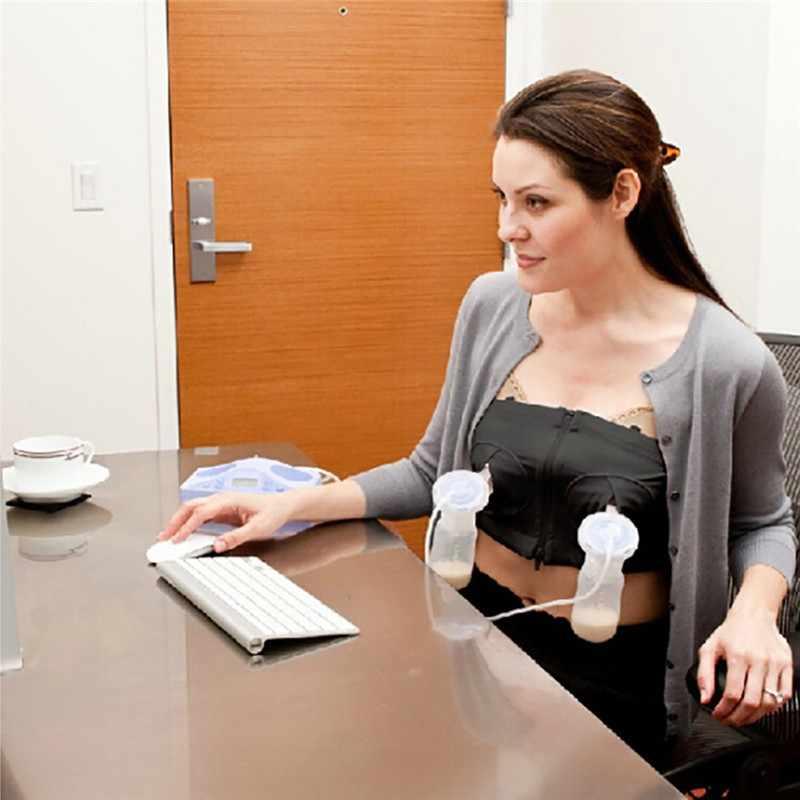 New Women Lady Mom Hands Free Maternity Breast Pump Bra Breastfeeding Nursing Bra Pumping Milk