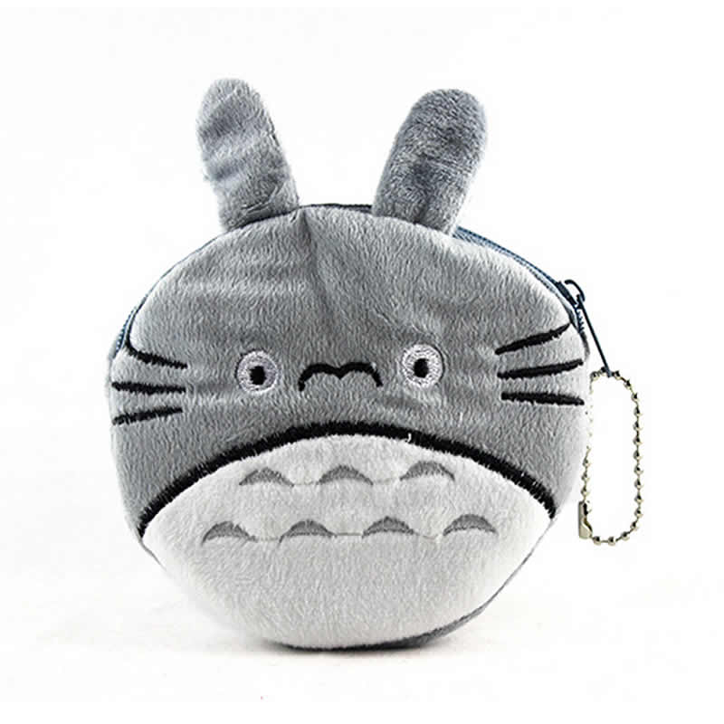 Cartoon Totoro Coin Purse Plush Mini Casual Women Money Wallet Bag Girls Key Coins Pouch Children Change Purse Holder For Gift factory direct wallet cartoon rabbit high quality plush coin purse activity promotional gifts for children girls
