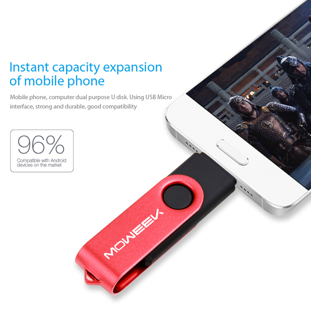 Moweek USB Flash Drive 2017 new cle usb stick 128G otg pen drive usb 2.0 Smartphone Pendrive 4/8/16/32/64G storage devices gift