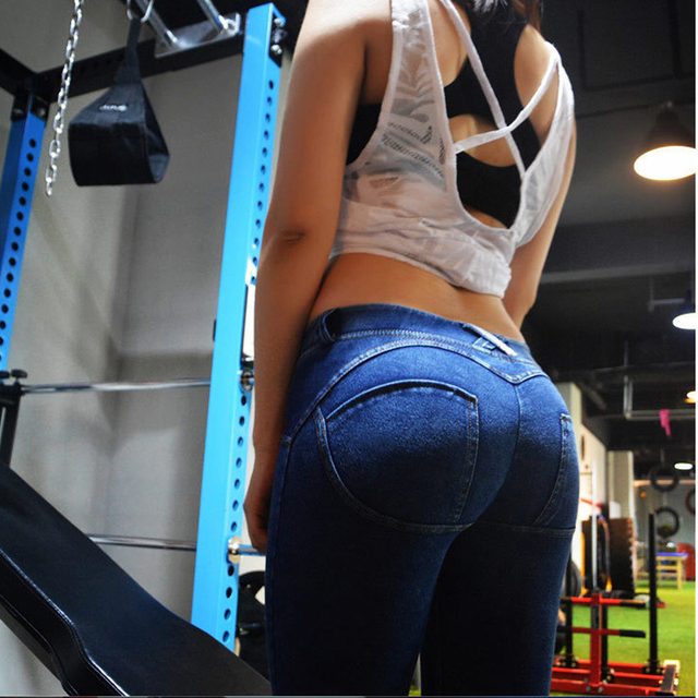 Mulher Alta Elastic Cintura Baixa Calças Jeans Estilo Gótico Sexy Hip Freddy Legins 2016 Pantalones Aptidão Jeggings Mulheres Pant