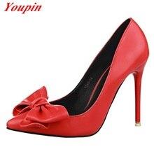 2015 classic OL women's fashion black high heels, sexy butterfly knot princess shoes, sweet woman's heels, 34-39