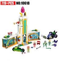 10618 719Pcs DC Super Heroes Girl School Poison Ivy Building Blocks Compatible 41232 DIY Educational Brick Toys Christmas Gift