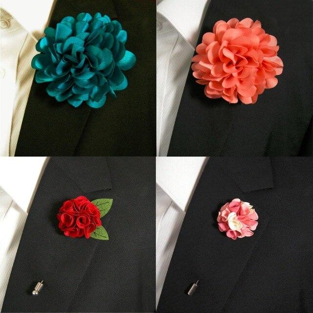 Aliexpress buy large flower fashion lapel flowers boutonniere large flower fashion lapel flowers boutonniere stick pin wedding silk blend handmade mightylinksfo