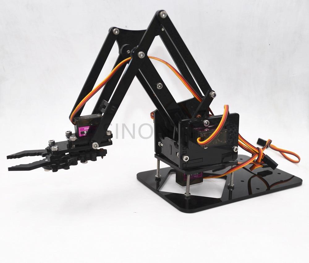Acrylic Mechanics Handle Robot 4 DOF arm arduino Created Learning Kit