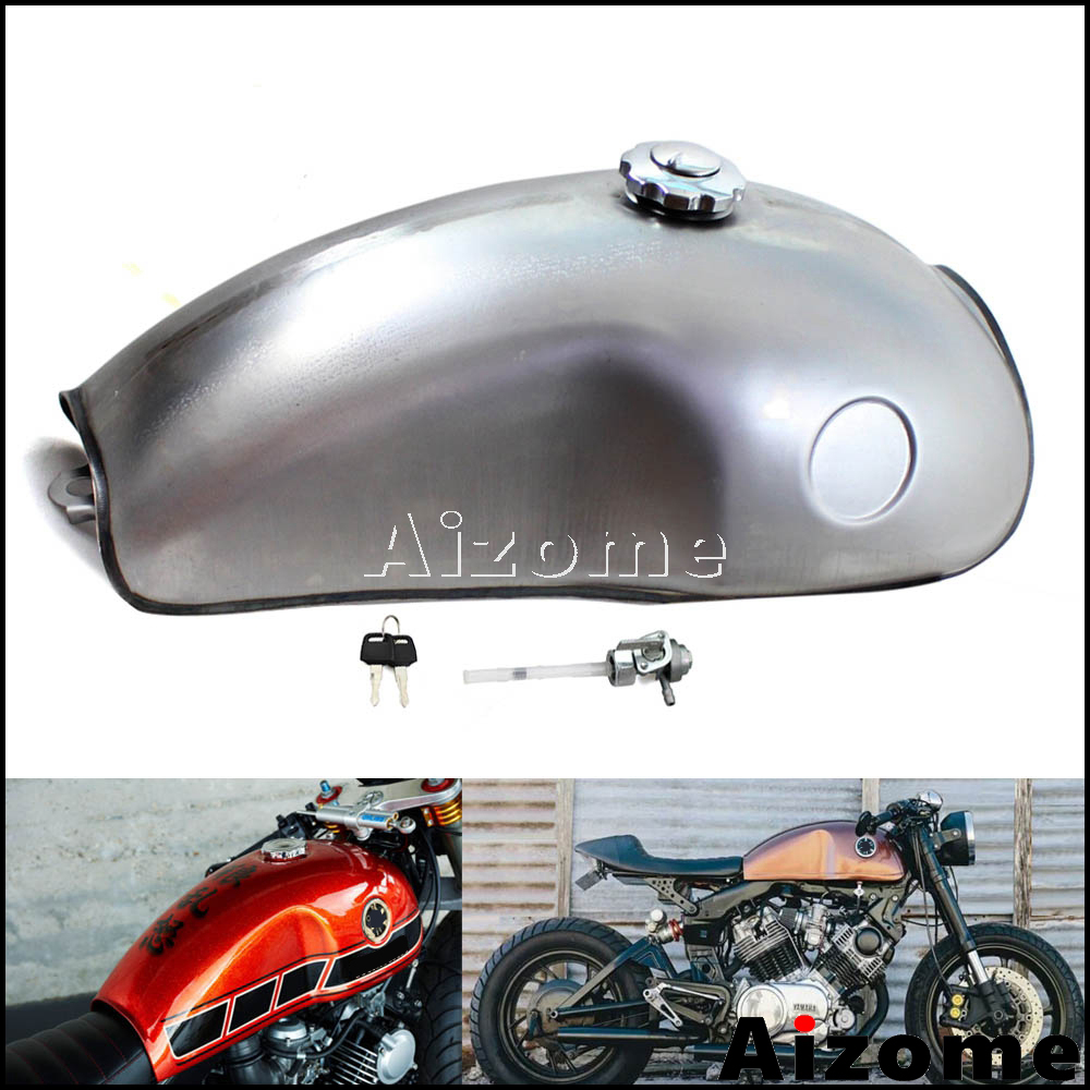 High Performance Cafe Racer Gas Tank Universal Iron F uel Tank Bobber for Suzuki GN125 GN250 GN Easy to Install Matte Black