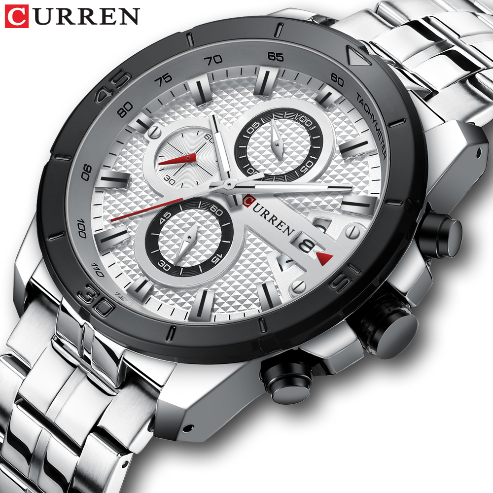 Army Military Quartz Business Men Watch Luxury Brand Stainless Steel Wrist Watch Chronograph Watches Relogio Masculino CURRENArmy Military Quartz Business Men Watch Luxury Brand Stainless Steel Wrist Watch Chronograph Watches Relogio Masculino CURREN