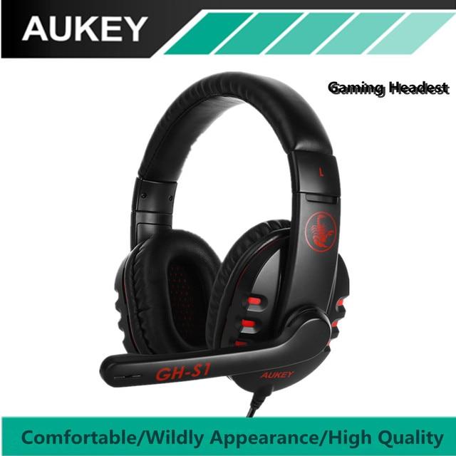 AUKEY Stereo Gaming Headset Suono Surround e Cancellazione di Rumore  Archetto Auricolare Controllo di Legare Cavo 37a908d59348