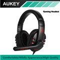 AUKEY Stereo Gaming Headset Surround de Som e Ruído Cancelando Cabeça Cabo de Controle Fio do Fone de ouvido com Microfone Para PS4 PC etc