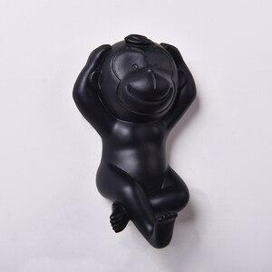 Image 5 - Ganchos de monos para la pared, decoración del hogar, gancho con diseño de Animal, joyería, estante de exhibición de ropa, gancho colgador para la pared