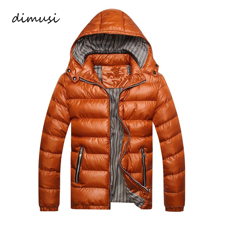 DIMUSI Winter Men Jacket Clothing Hoodies Parkas Thick Fashion Cotton Outwear Windbreaker