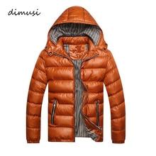 DIMUSI Winter Men Jacket Fashion Cotton Thermal Thick Parkas