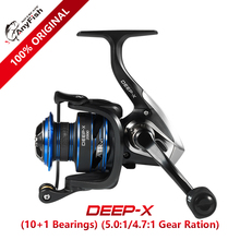 Anyfish DEEP-X Spinning Fishing Reel 2000/3000/4000/5000/6000 model 10+1 bearings Max drag 6kg/8kg reel fishing saltwater wheels