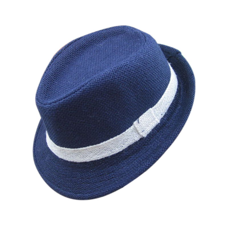 New Solid Color Baby Fedora Hats Linen Jazz Caps Children Top Hat Kids Sun  Cap Topee Fedoras FJ88-in Hats   Caps from Mother   Kids on Aliexpress.com  ... 5e7ce95b325