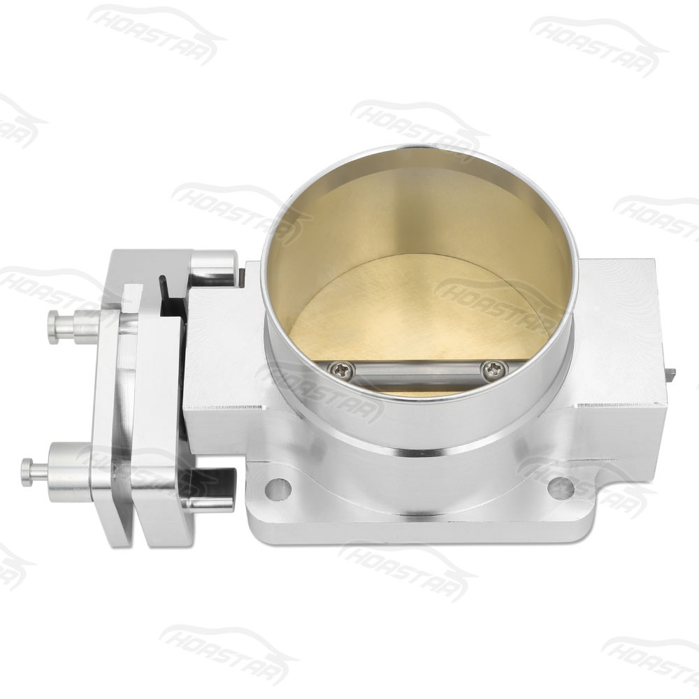 цена на 76mm Aluminum Billet Throttle Body For Cxracing 96-04 Ford Mustang GT 4.6L V8 Silver