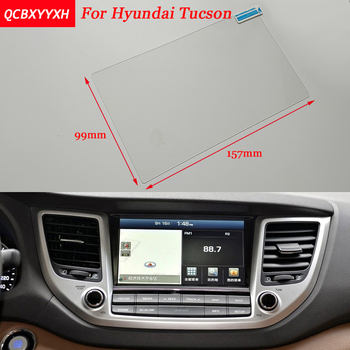 Car Sticker 8 Inch GPS Navigation Screen Steel Protective Film For HYUNDAI Tucson Control of LCD Screen Car Styling image