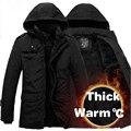 Mens Moda de Nova Jaqueta de Inverno Homens Espessamento Jaquetas de Algodão Casuais À Prova D' Água À Prova de Vento Respirável Sportswear Casaco parka