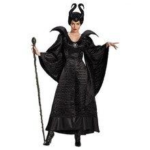 Film Dornröschen Maleficent Kostüm Halloween Karneval Fancy Dress Up Plus Größe XS 3XL