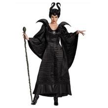 فيلم النوم الجمال Maleficent زي هالوين كرنفال فستان بتصميم حالم يصل حجم كبير XS 3XL