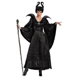 Image 1 - Movie Sleeping Beauty Maleficent Costume Halloween Carnival Fancy Dress Up Plus Size XS 3XL