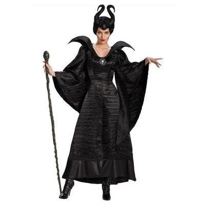 Movie Sleeping Beauty Maleficent Costume Halloween Carnival Fancy Dress Up Plus Size XS 3XL