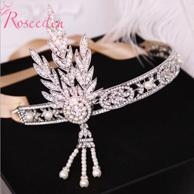 New 2016 Fashion Hair Accessories The Great Gatsby Daisy Crystals Pearl Tassels Hair Hoop Headband Wedding Bridal Tiara RE148-in Hair Jewelry from Jewelry & Accessories on Aliexpress.com | Alibaba Group