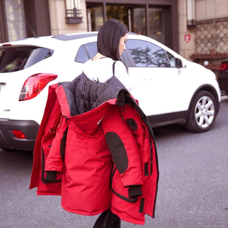 Femmes Black Capuchon Grande Hiver red Mode De Chaud Moyen Supérieure À Longues 2019 Long Nouvelle Taille Doudoune Manches Nuw290 Qualité dXqp7qxU