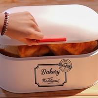 Household Bread Box Kitchen Food Snacks Bread Storage Bins Holder Container