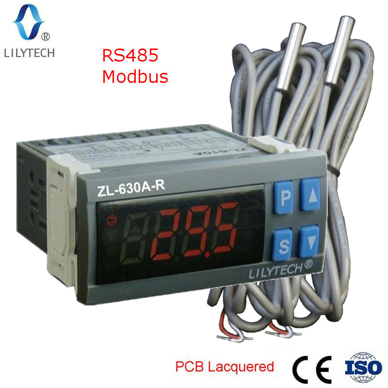 ZL-630A-R, RS485 Temperature Controller, Digital Cold Storage Temperature Controller, Thermostat, With Modbus, Lilytech