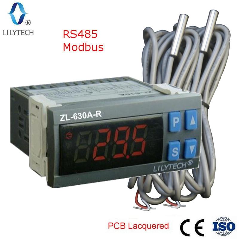 ZL-630A-R, RS485 Temperatuurregelaar, digitale Koude Opslag Temperatuurregelaar, Thermostaat, met Modbus, Lilytech
